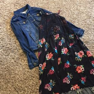 Girls jean jacket and summer dress. Size 16